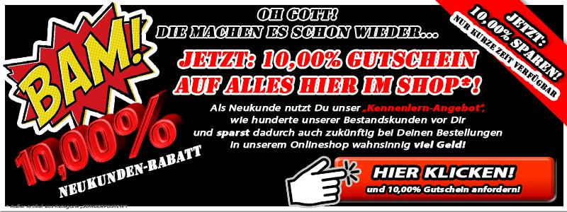10% Neukunden Gutschein Code (Schwarz)