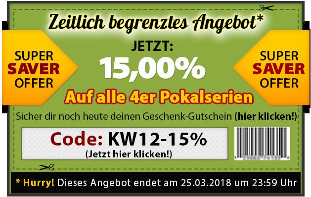 4er Pokalserie 15% Geschenk-Gutschein-Code