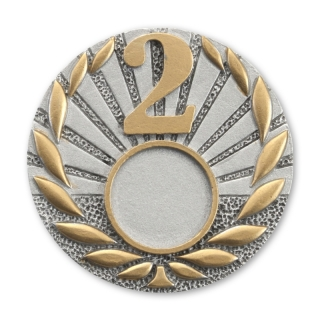 RE40  70/25 mm, Resin-Emblem, Neurtral  2, Silber/Gold