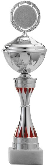 Pokal Silber/Rot A8101