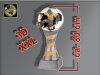 Fußballer springt aus Ball-Resin-Pokal, Multi, 80x32 cm