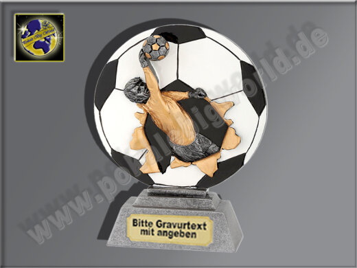 Torwart-Resin-Pokal, Multi, 16x12 cm