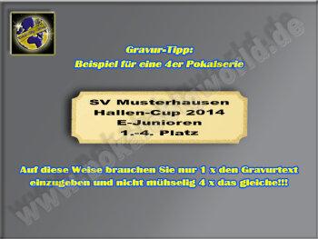 FG1122 Resin-Pokal-Darten, Multi, 18x14 cm