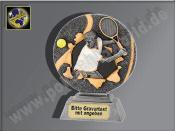 Tennis-Herren-Resin-Pokal, Multi, 16x12 cm