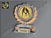 Ständer-Neutral-Resin-Pokal, Antik-Silber/Gold, 12x10 cm