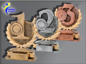 3er 1.-2. u. 3. Platz, Resin-Pokalserie, Gold,...