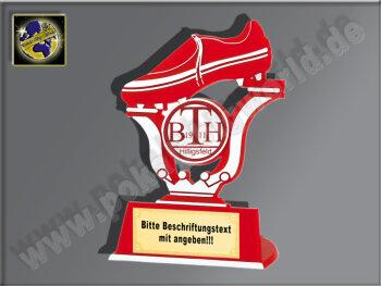 Fußball-Schuh-Kunststoff Ständer, Rot/Silber,...