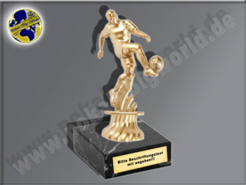 Fußballer-Mini-Pokal, Gold, 11x6 cm