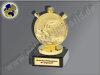Schwimmer, Seepferdchen, Schwimmen, Wassersport-Mini-Pokal, Gold, 10x6 cm