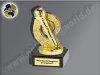 Mikrophon-Mini-Pokal, Gold, 10x5 cm
