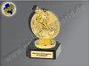 BMX-Rad mit Fahrer-Mini-Pokal, Gold, 10x6 cm