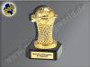 Basektball im Korb-Mini-Pokal, Gold, 10x5 cm