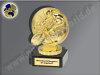 Radfahren, Rennrad mit Fahrer-Mini-Pokal, Gold, 10x7 cm