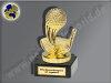 Golf-Schläger mit Ball-Mini-Pokal, Gold, 10x5,5 cm