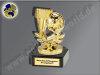 Handball-Tor und Ballwurf-Mini-Pokal, Gold, 9,5x5,5 cm