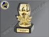 Arsch der Woche-Mini-Pokal, Gold, 9,5x5 cm
