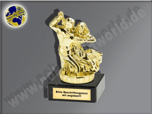 Paar-Tanz-Mini-Pokal, Gold, 10x6,5 cm