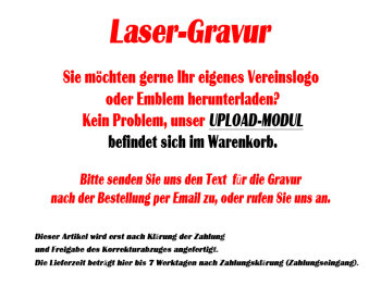B319.3   Glaspokal, Transparent/Rot, mit Laser-Gravur,...