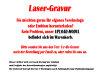 B319.3   Glaspokal, Transparent/Rot, mit Laser-Gravur, 15x20 cm (inkl. Personalisierungskosten)