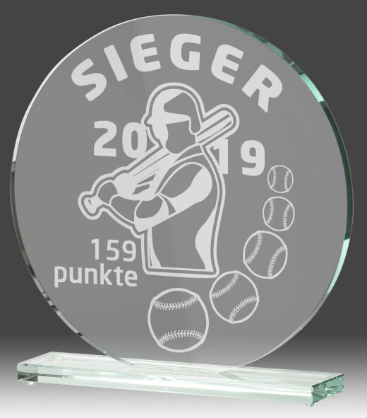 B331.1   Glaspokal inkl. edler Samt-Gift-Box, Transparent, mit Laser-Gravur, 10x10 cm (inkl. Personalisierungskosten)