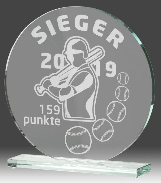 B331.4   Glaspokal inkl. edler Samt-Gift-Box, Transparent, mit Laser-Gravur, 20x20 cm (inkl. Personalisierungskosten)
