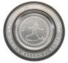 """D111.1   Zinnteller """"Deko"""", Antik-Silber, mit Gravur, 18 cm Ø (inkl. Personalisierungskosten)"""