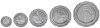 """D112.0   5 er Zinnteller-Serie """"Deko"""", Antik-Silber, mit Gravur, 14-18-23-27-32 cm Ø (inkl. Personalisierungskosten)"""