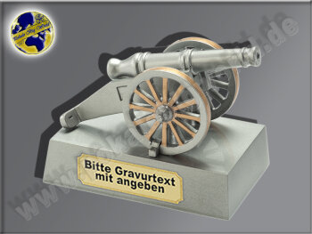 Torjäger-Kanone 3D-Resin-Pokal, Antik-Silber/Gold,...