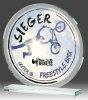 B335.1   Glaspokal inkl. edler Samt-Gift-Box, Transparent, mit Sublimationsdruck, 10x10 cm (inkl. Personalisierungskosten)