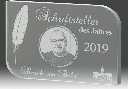 B338.2   Glaspokal inkl. edler Samt-Gift-Box, Transparent, mit Laser-Gravur, 14,5x9,5 cm (inkl. Personalisierungskosten)