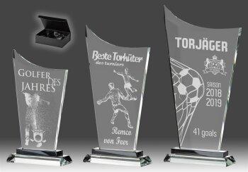 B343.0   3er Glaspokal-Serie inkl. edler Samt-Gift-Box, Transparent, mit Laser-Gravur, 11,5x21-13,5x26-15,5x29 cm (inkl. Personalisierungskosten)