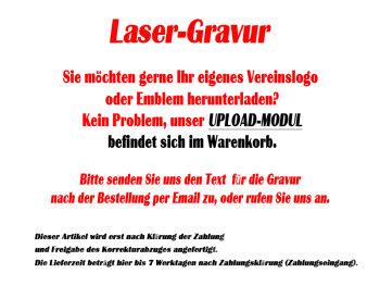 B344.1   Glaspokal inkl. edler Samt-Gift-Box, Transparent/Blau, mit Laser-Gravur, 11,5x19 cm (inkl. Personalisierungskosten)