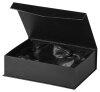 B344.3   Glaspokal inkl. edler Samt-Gift-Box, Transparent/Blau, mit Laser-Gravur, 15,5x25 cm (inkl. Personalisierungskosten)