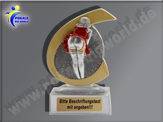 PoPo-Arsch d. Woche, Pech-Loser-Pokal, Kegel/Bowling, Resin-Pokal-Resin-Pokal, Multicolor (handbemalt), 10x7,5 cm
