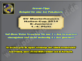 FG864  Fußball-Spieler, Resin-Pokal in 3D-Optik, Resin-Pokal, Antik-Silber/Gold, 25x11 cm