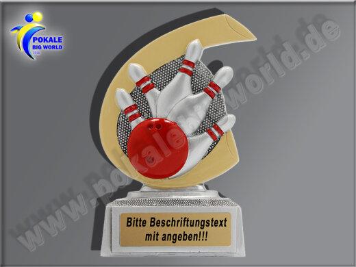 Bowling- Kegel-Pokal, Arsch d. Woche, Pech-Loser-Pokal, Minipokal-Resin-Pokal, Multicolor (handbemalt), 10x7,5 cm