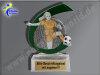 Fußballerin, Fussballspielerin,Damenfussball, Mini-Pokal-Resin-Pokal, Multicolor (handbemalt), 10x7,5 cm