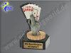 Kartenspiel, Pokerblatt, Karten spielen-Mini-Pokal, Multicolor (handbemalt), 10x5 cm