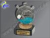 Schwimmer, Seepferdchen, Schwimmen, Wassersport-Mini-Pokal, Multicolor (handbemalt), 10x6 cm