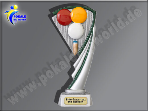 Billard-Resin-Pokal, Multicolor, 17 cm