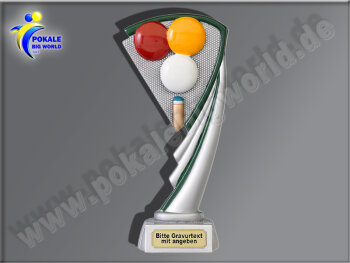Billard-Resin-Pokal, Multicolor, 19,5 cm