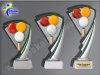3er Billard, Resin-Pokalserie, Multicolor, 14,5-17 u. 19,5 cm