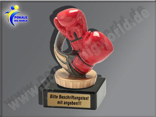 Boxhandschuhe, Boxer, Boxen-Mini-Pokal, Multicolor (handbemalt), 10x6 cm