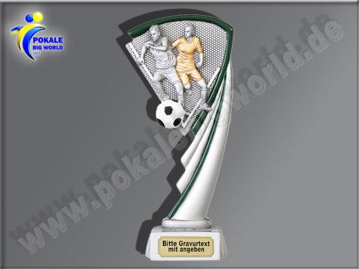 Fussball-Zweikampf-Resin-Pokal, Multicolor (handbemalt), 19,5 cm
