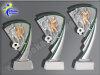 3er Fussball-Zweikampf, Resin-Pokalserie, Multicolor (handbemalt), 14,5-17 u. 19,5 cm