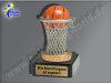 Basektball im Korb-Mini-Pokal, Multicolor (handbemalt), 10x6 cm
