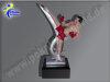 Kickboxer, Kickboxen, Taekwondo-Resin-Pokal, Multicolor (handbemalt), 18x10x6 cm