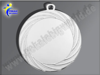 DI7001.02   Silber-Medaille, 70mm Ø, m. Band,...