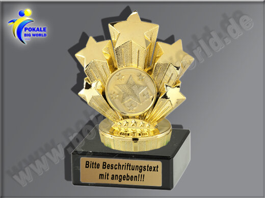50 mm//gold Pokal Emblem Eishockey