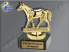 Pferd, Reiten, Ausreiten-Mini-Pokal, Gold, 10x7,5 cm